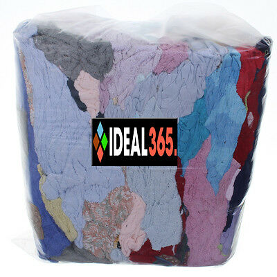 £20 • Buy 10kg Bag Of Rags Cut Offs Material Fabric - Car Cleaning Wiping Drying Etc