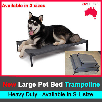 AU31.50 • Buy New Large Dog Puppy Cat Pet Bed Trampoline Heavy Duty Frame Hammock Canvas S M L