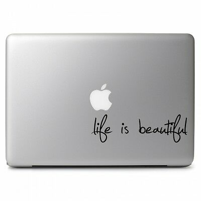 $9.20 • Buy Life Is Beautiful Vinyl Decal Sticker For Macbook Air Pro 11 12 13 15 17  Laptop