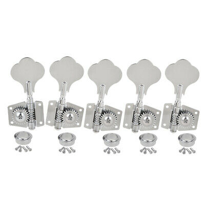$ CDN35.14 • Buy Bass Tuning Pegs Machine Heads Tuners For 5 String Jazz P Guitar 4R1L Chrome