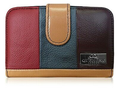 Real Leather Womens Purse, 6 Card Holder Slots, 5 Coin Trays, Designer Purses UK • 17.97£