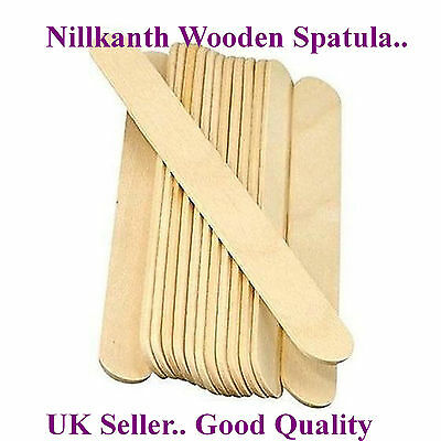 £5.49 • Buy High Quality Waxing Sticks Large Tongue Depressor Wooden Spatulas Hair Removing