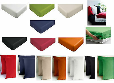 Ikea Dvala Fitted Bed Sheet/ Pillowcases- Available In Various Sizes & Colours • 12.99£