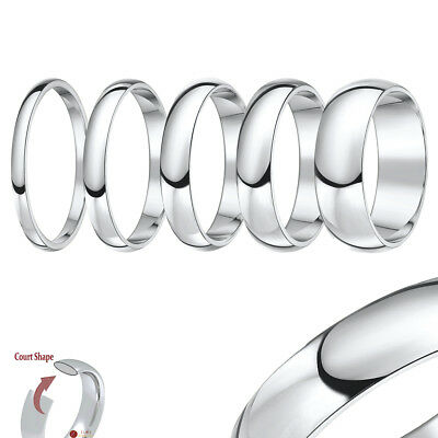 £5.99 • Buy Titanium Court Shaped High Polished Wedding Ring Band '''All Width's & Size's'''