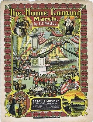 $16.79 • Buy The Home Coming March, E. T Paull, Vintage Sheet Music, 1908