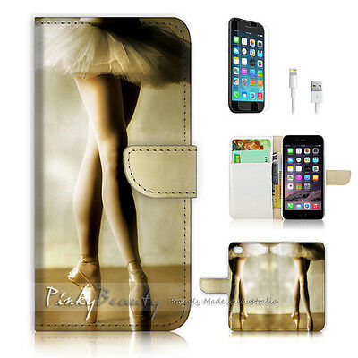 AU12.99 • Buy ( For IPhone 6 / 6S ) Wallet Case Cover P0457 Ballet Girl