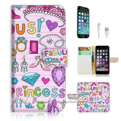 AU12.99 • Buy ( For IPhone 6 / 6S ) Wallet Case Cover P0636 Girl Collection Nice