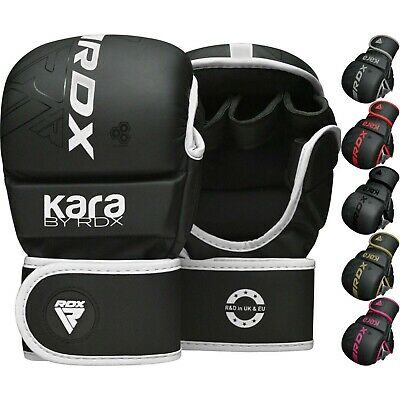 AU61.99 • Buy  RDX Leather MMA Grappling Gloves Fight Boxing Muay Thai Punch Bag Sparring