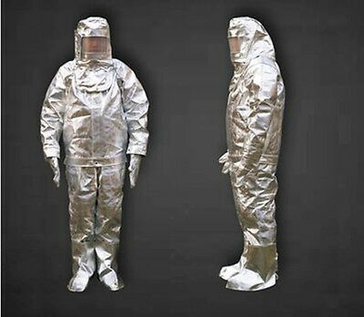 Thermal Radiation 1000 Degree Heat Resistant Aluminized Suit Fireproof Clothes • 163$