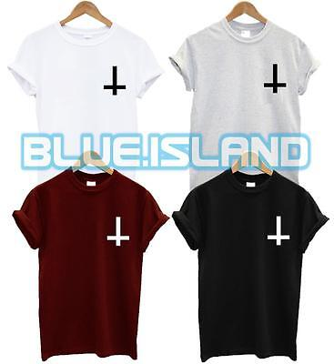 £5.50 • Buy Inverted Cross Pocket Logo T Shirt Wasted Youth Tshirt Fashion Hipster Swag