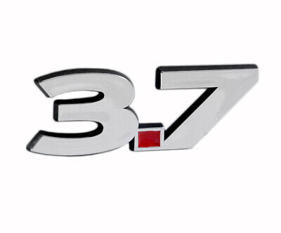 $12.17 • Buy 3.7 Liter Engine Chrome Plated ABS Emblem Badge Logo With Red Insert - 5.5  Long