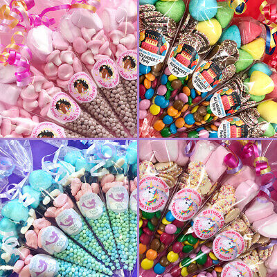 £1.70 • Buy Pre Filled Girls Party Sweet Cones / Party Bags / Mermaid / Unicorn / Disco
