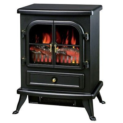 1850w Flame Effect Log Burning Stove Heater Electric Fire Place Fireplace Fan . • 159.95£