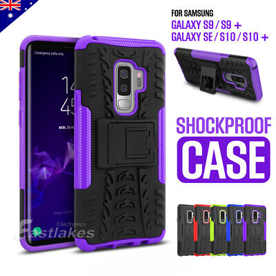 AU6.99 • Buy For Samsung S9 S9+ S10 Plus Hybrid Shockproof Stand Case Cover Tough Heavy Duty