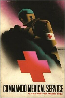 $5.99 • Buy HEALTH COMMANDO MEDICAL SERVICE Poster BY ARTIST Abram Games 24X36 MILITARY
