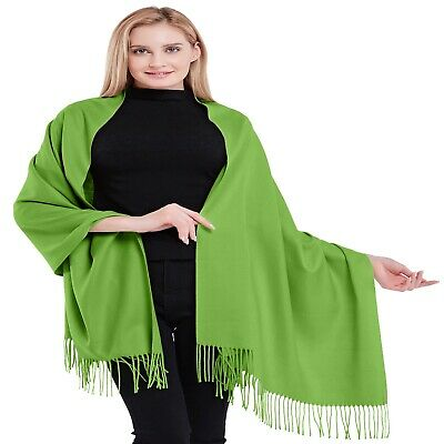Green 100% Cashmere Shawl Pashmina Scarf Stole Wrap Throw Hand Made In Nepal NEW • 79.99£