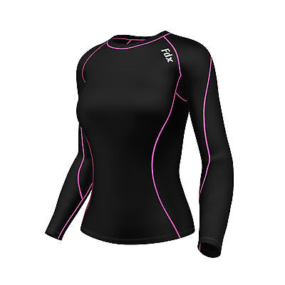 FDX Women's Compression Top Long Sleeve Base Layer  Running Gym Training Top  • 12.90£