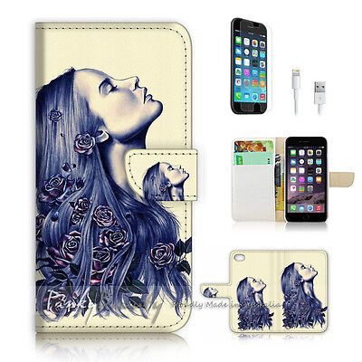 AU12.99 • Buy ( For IPhone 6 / 6S ) Wallet Case Cover! P2177 Flower Girl
