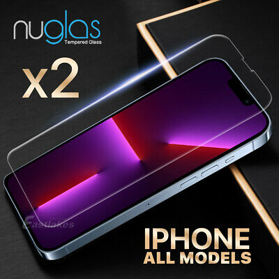 AU5.89 • Buy 2x NUGLAS Tempered Glass Screen Protector IPhone 11 Pro XS Max XR 8 7 6s Plus