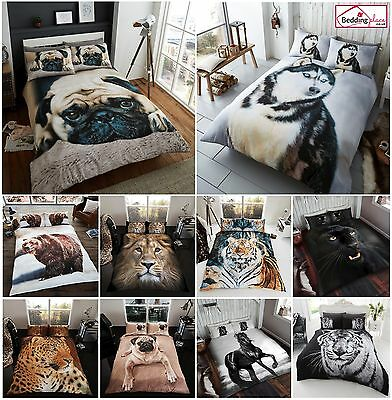 3d Animal Duvet Quilt Cover Pillow Cases Bedding Set Single Double King • 15.95£