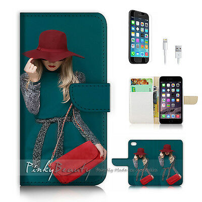 AU12.99 • Buy ( For IPhone 6 / 6S ) Wallet Case Cover! P2237 Fashion Girl