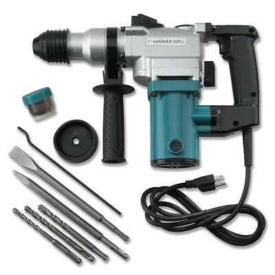 "View Details New 1"" Electric Rotary ROTO Hammer Drill SDS Concrete Chisel Kit W/ Bits NEW • 56.49$"