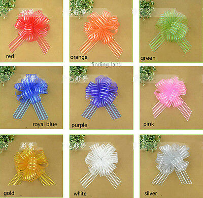 50MM X1450MM Extra Large Organza Ribbon Pull Bows Wedding Party Gift Wrap-B1 • 1.79£
