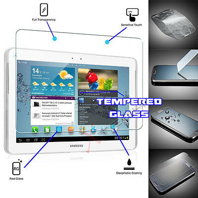 100% TEMPERED GLASS Screen Protector For Samsung Galaxy Tab 2 10.1 P5100 P5110 • 4.95£