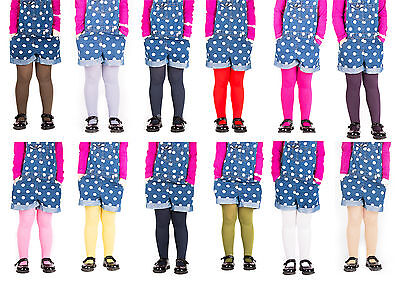 £2.99 • Buy Girls Tights Plain Opaque By Sentelegri 40 Or 60 Denier, Age 2-12Years-16Colours