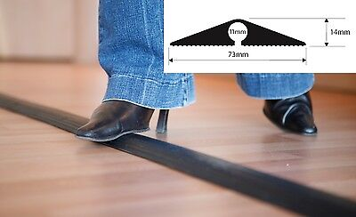 £15.95 • Buy Easyfit Black Rubber Floor Cable Wire Cover Tidy Protector Safety Trunking Ramp