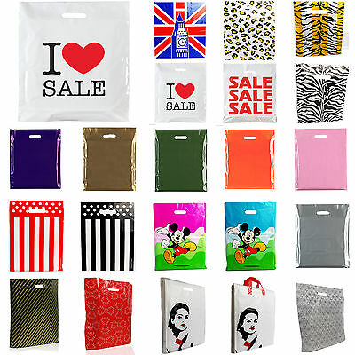 PLASTIC CARRIER BAG -Designer Bags/Sale Bags/ Printed Strong Gift Shopping Bag • 5.99£