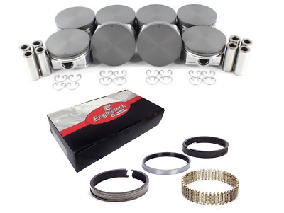 $275 • Buy Coated Skirt Flat Top Pistons W/ Moly Rings For 2005-2009 Chevrolet 5.3L