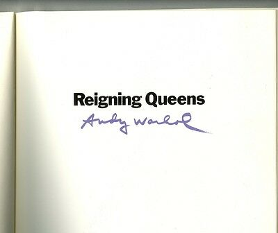 $1450 • Buy ANDY WARHOL Reigning Queens Print Catalogue Plate Signed 1985, Lt. Ed. 5000
