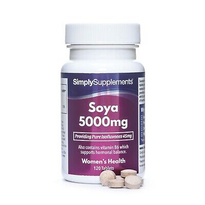Soya Isoflavones 5000mg * 120 Tablets * Max Strength * Supports Hormonal Balance • 16.89£