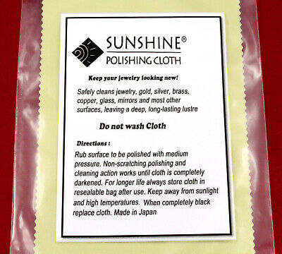 AU5.45 • Buy Sunshine Jewellery Polishing Cloth Jewellery Cleaner - Clean Gold, Silver ,Brass