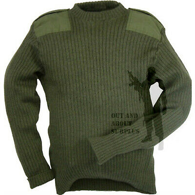 $27.80 • Buy BRITISH ARMY  Commando Jumper Sweater Surplus Pullover Military Cadet Wool Green
