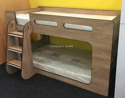 Low Bunk Beds - Short Height 122cm - With Shelves - New Childrens Lower Bunks • 369£