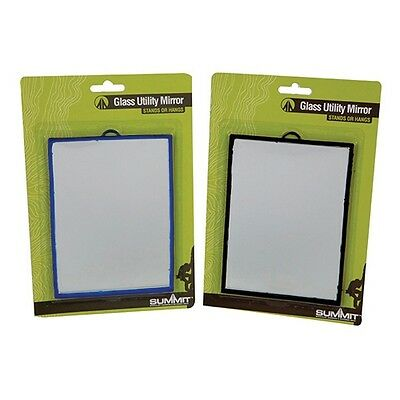 £6.95 • Buy Camping Glass Utility Mirror 12 X 17cm Can Be Used Free Standing Or Hang