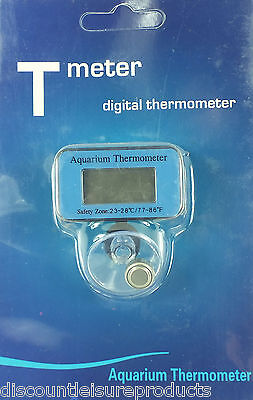 £3.99 • Buy Discount Leisure Waterproof Aquarium Digital Thermometer With Suction Cup #SDT1