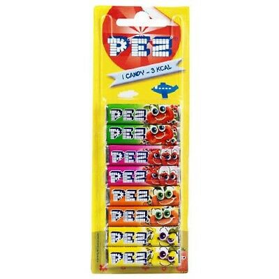 Pack Of 8 PEZ Refills Fruit Flavour Sweets For PEZ Dispenser - New • 2.89£