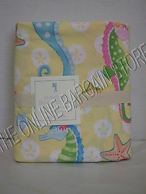 $55.99 • Buy Pottery Barn Kids PBK Seahorse Bed Duvet Cover Full Queen FQ Paisley Nautical