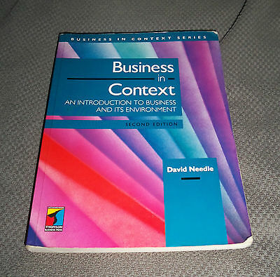 Business In Context: An Introduction To Business And Its Environment By David... • 4.99£