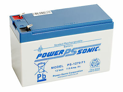 NP7-12 12v 7Ah 20HR Lead Acid Rechargeable Battery NP6-12 P/Sonic • 20.50£