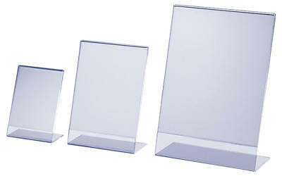 Acrylic Poster Menu Holder Perspex Leaflet Display Stands A4,a5,a6,a7,a8,a9 • 4.85£