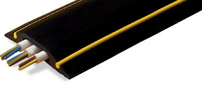 Hazard Yellow & Black Rubber Floor Cable Wire Cover Tidy Protector Safety Ramp  • 22.95£