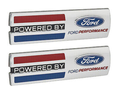 $65.60 • Buy Mustang  Powered By Ford Performance  5.5  Emblems Fender Badges Chrome - Pair