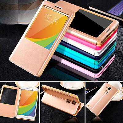 AU7.99 • Buy New Smart S-VIEW Flip Case Cover For Oppo R7 R7s & R7 Plus R9 F1S