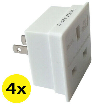 AU11.86 • Buy PACK OF 4 UK To US American Canada Jamaica Thailand Taiwan Travel Plug Adapter