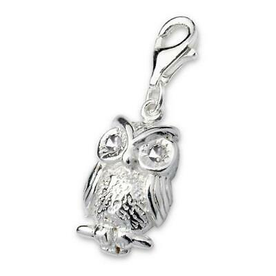 Sterling Silver Owl 925 Clip On Charm; • 11.99£