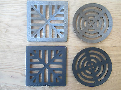 £9.95 • Buy Heavy Cast Iron Gully Grid Grate Drain Cover Drainage Guard Gutter Lid Cap